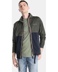 Green Coast - Blue And Khaki Casual Jacket - Lyst