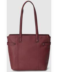 El Corte Inglés - Burgundy Shopper Bag With Side Studs - Lyst