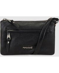 Pepe Moll - Wo Small Black Crossbody Bag With An Outer Pocket - Lyst