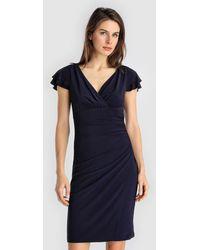 Lauren by Ralph Lauren - Short Dress With Draping - Lyst