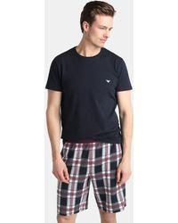 Emporio Armani - Short Black Fabric Pyjama Bottoms - Lyst