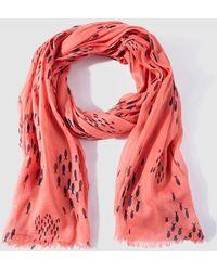 Caminatta - Coral Printed Cotton Foulard - Lyst