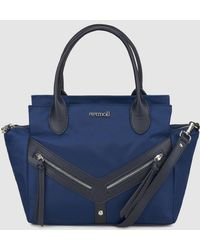 Pepe Moll - Blue Handbag With An Outer Pockets - Lyst