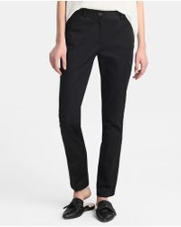 Zendra El Corte Inglés - El Corte Inglés Zendra Black Straight Trousers - Lyst