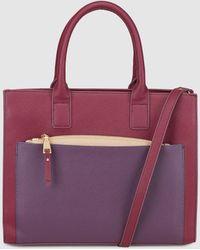 El Corte Inglés - Burgundy Handbag With Contrasting Pocket - Lyst