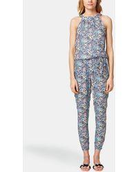 Esprit - Floral Halter Neck Jumpsuit - Lyst