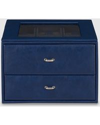 El Corte Inglés - Navy Blue Watch Box With Cufflink Compartment - Lyst