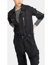 Polo Ralph Lauren - Long Black Jumpsuit - Lyst