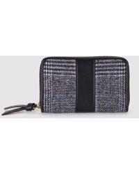 El Corte Inglés - Medium Black Mixed Material Wallet With Zip - Lyst