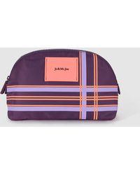 Jo & Mr. Joe - Purple Printed Toiletry Bag - Lyst