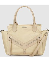 Pepe Moll - Beige Handbag With Outer Pockets - Lyst