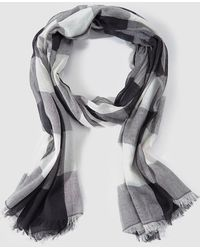 Gloria Ortiz - Wo Wool Foulard With Black And White Checks - Lyst