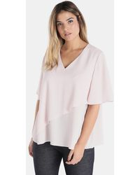 Couchel | Plus Size Layered Blouse With Lurex | Lyst