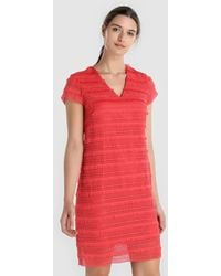 Yera - Short Red Crochet Dress - Lyst