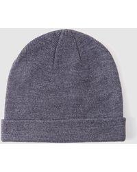 El Corte Inglés - Grey Stockinette Stitch Hat - Lyst