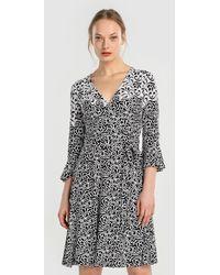 Yera - Printed V-neck Dress - Lyst