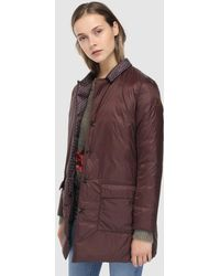 indi & cold - Short Button-up Quilted Coat - Lyst