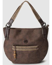 Caminatta - Brown Shopping Bag With Jewelled Detail - Lyst