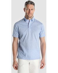 Mirto - Blue Short Sleeved Piqué Polo Shirt - Lyst