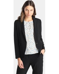 Yera - Basic Navy Blue Blazer - Lyst