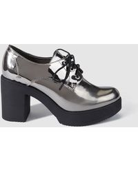 Green Coast - Silver Lace-up Shoes - Lyst