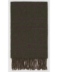 Polo Ralph Lauren - Checked Wool Scarf - Lyst