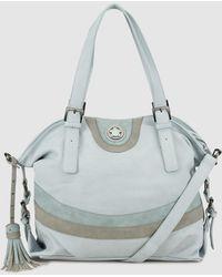 Caminatta - Pale Blue Shopper Bag With Contrasting Stripes - Lyst