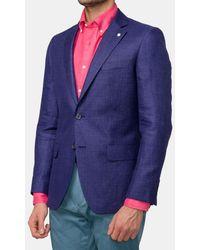 Mirto - Regular-fit Plain Blue Blazer - Lyst