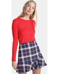 Green Coast - Tartan Skirt With Frill - Lyst