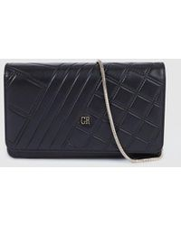Georges Rech - Black Nappa Leather Clutch With A Chain Strap - Lyst