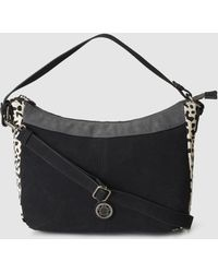 Caminatta - Colt Leather And Synthetic Material Black Crossbody Bag - Lyst 643895d32e100