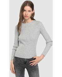Green Coast - Basic Ribbed Sweater - Lyst