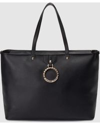 Versace Jeans - Black Tote Bag With Removable Pouch - Lyst 9a9f01600f3fc