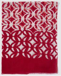 El Corte Inglés - Red Ikat Print Linen Foulard - Lyst