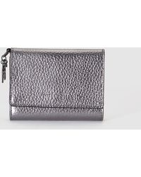Gloria Ortiz | Wo Silver-toned Wallet With Flap Fastening And Pocket On The Outside | Lyst