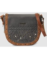 Pepe Moll - Small Black Crossbody Bag With Studs - Lyst