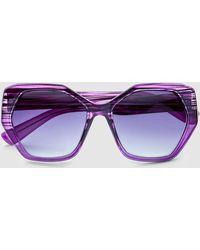 El Corte Inglés - Wo Purple Hexagonal Sunglasses - Lyst