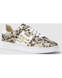 724c29c7cdc4 New Balance Snakeskin Print Trainers in Brown - Lyst