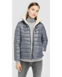 indi & cold - Long Navy Blue Coat With Two Sides - Lyst