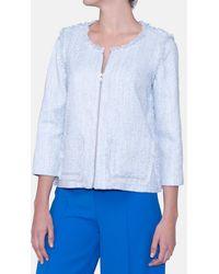 Mirto - Frayed Tweed Jacket - Lyst
