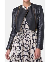 Mirto - Women Short Leather Jacket - Lyst