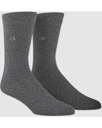 Calvin Klein - 2-pack Of Grey Socks - Lyst