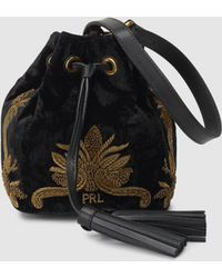 Polo Ralph Lauren - Bullion Velvet Bucket Bag - Lyst