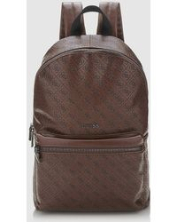 Guess - Mens Brown Backpack With Embossed Logo - Lyst