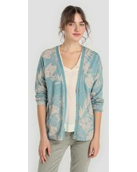 indi & cold - Long Sleeve Cardigan With Floral Print - Lyst