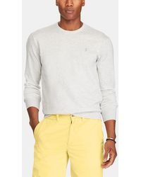 Polo Ralph Lauren - Grey Sweater With Round Neck - Lyst
