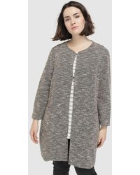 Couchel - Plus Size Long Cardigan With Pockets - Lyst