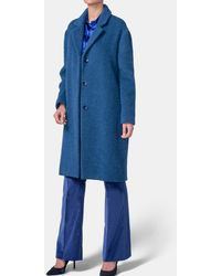 Mirto - Plain Blue Oversized Coat - Lyst
