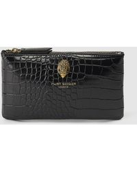 Kurt Geiger - Black Pouch With Mock-croc Embossing - Lyst