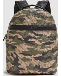 Guess - Camouflage Print Backpack With Zip - Lyst 716b982a7e735